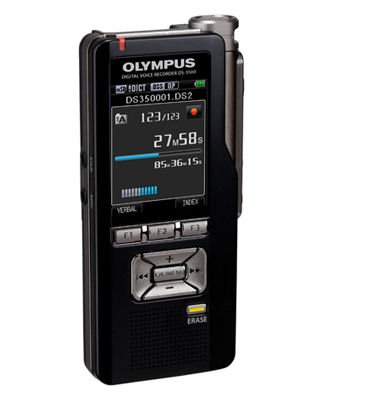 Olympus 2GB Expandable Digital Voice Recorder with Enhanced Security and 2-Inch Color LCD Screen