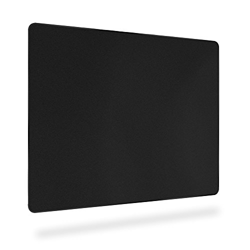 Hard Gaming Mouse Pad Large with Enhance Precision and Smooth Plastic Surface, Flat Mouse Mat for PC,Computer and Laptop 11.6 by 9.5 in Black by BitechPro