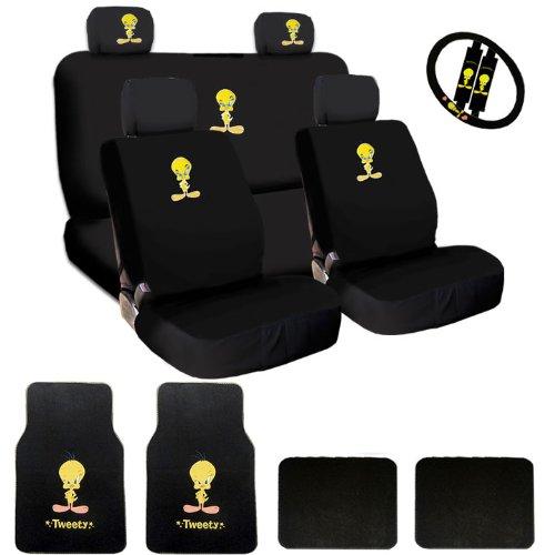New Tweety Bird Car Seat Covers Steering Wheel Cover Headrest