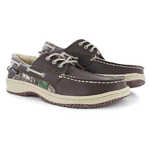 RealTree Mason Brown Camo Men's Boat Shoe 9M
