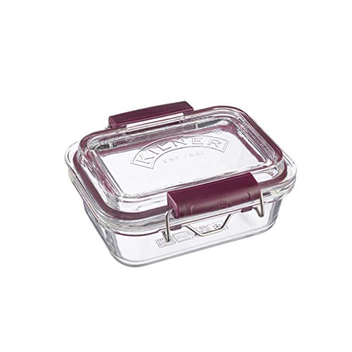 Kilner Glass Fresh Storage, Durable BPA-Free Food Storage Container with Airtight Clip Top Lid, 12-Fluid Ounces, Safe for Dishwasher, Freezer, Microwave and Oven