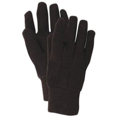 Magid Glove and Safety Brown Jersey Glove (Pack of 3), One Size 3 Pair Cotton Gloves
