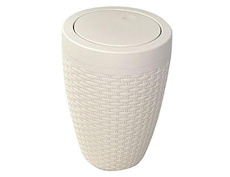 Landhaus Style Maxi Cosmetics Bucket In Rattan Basket Weave Design