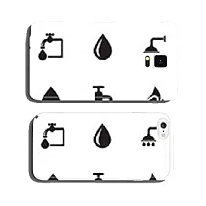 Vector water icons set cell phone cover case iPhone6