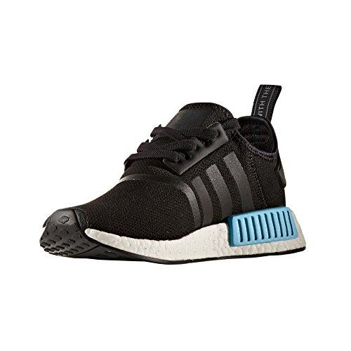 Sneaker Adidas NMD R1 Boost (43 1/3 EU - 9UK, Black/Icey Blue)