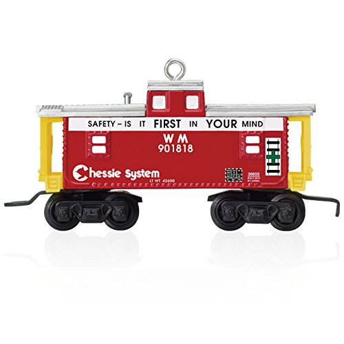 "Hallmark Keepsake Chessie System ""W.M."" Train Caboose by Lionel Holiday Ornament"