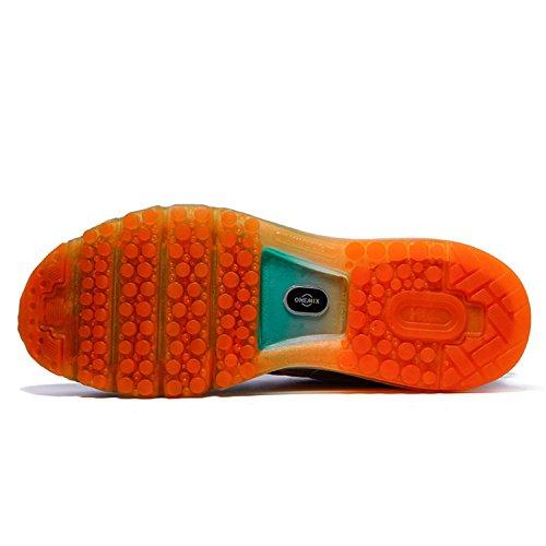 Onemix Men Lightweight Mesh Air Cushion Outdoor Sport Running Shoes A Grey / Orange