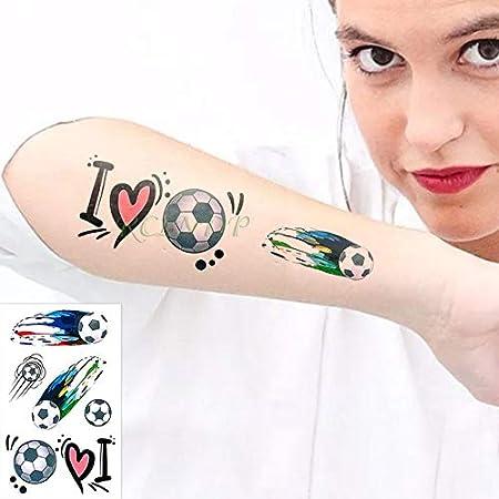 ljmljm 5pcs Tatuaje Impermeable Etiqueta Fútbol tamaño pequeño del ...