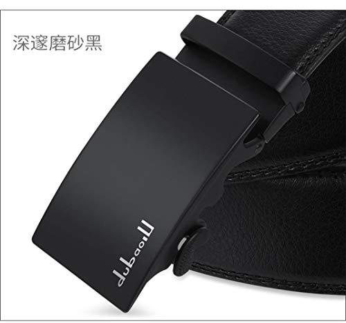 [해외]Belt men`s leather belt automatic buckle Jeans Belt Jane Deep ground black / Belt men`s leather belt automatic buckle Jeans Belt Jane Deep ground black