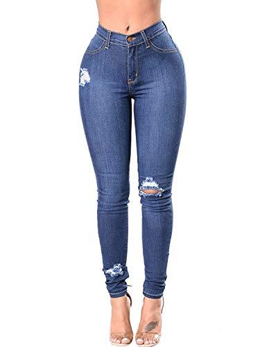 Burvogue - Jeans - Skinny - Femme Bleu bleu