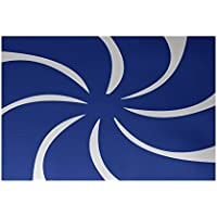 E by design RHGN278BL1-23 Whirl of The Season Decorative Holiday Geometric Print Rug, 2 by 3, Royal Blue