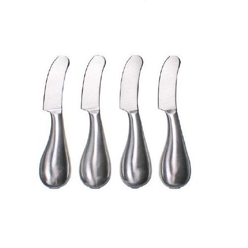 Prodyne Stainless Steel Spreaders (Set of 4), Silver (Cheese Prodyne)