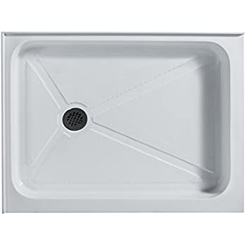 VIGO 32 X 40 In. Rectangular Shower Base Left Drain, White