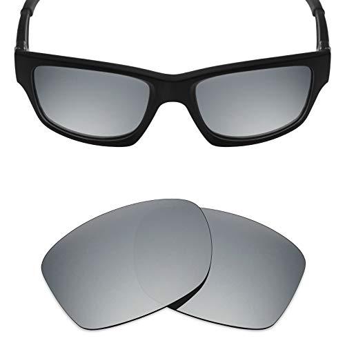Mryok Polarized Replacement Lenses for Oakley Jupiter Squared/Jupiter Carbon - Silver Titanium ()