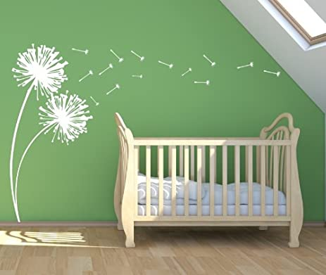 Bon Dandelions Blowing Large Vinyl Wall Decal Sticker 72u0026quot; H By 33u0026quot; W    Dandelion