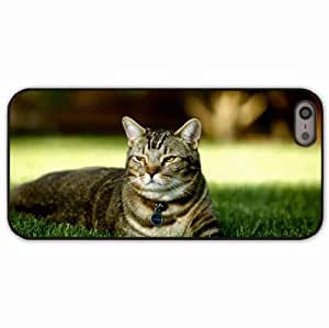 iPhone 5 5S Black Hardshell Case grass striped Desin Images Protector Back Cover