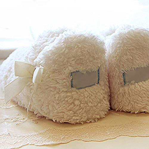 Animé Coton Blanche slip Femmes Pantoufles Chaussures Mousse Intérieur Dessin Mémoire Souple Neige Chaussons 17 Hiver Peluche Minetom Extérieur Mignon Chaud Maison Anti 0OqIAI1w