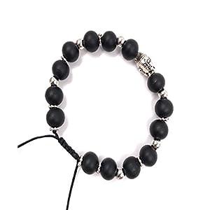 Bellissima Jewellery Unisex Adjustable Wooden Bead Buddha Head Bracelet
