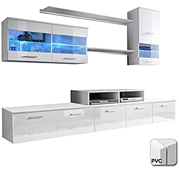 muebles bonitos - Mueble de salón Claudia Mod.6 Puerta PVC ...
