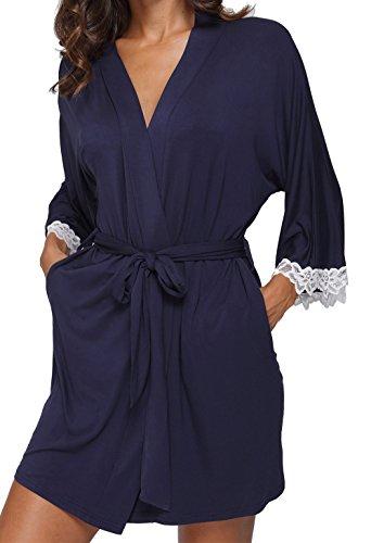 Caffia Womens Kimono Cotton Bathrobes