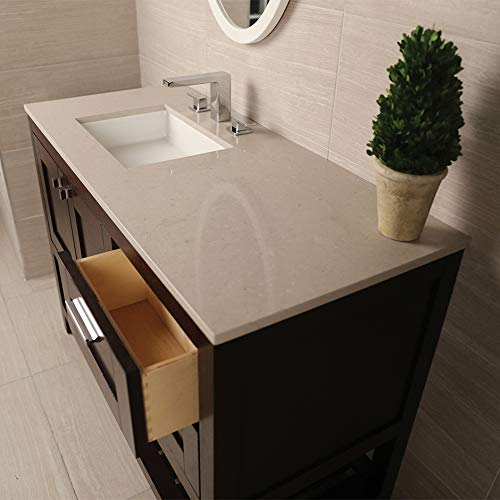 Countertop for vanity STL-F-48L & STL-W-48L, with a cut-out for Bathroom Sink 5452UN. W: 48