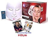 Rejuven Mask LED Light Therapy Mask Includes FREE bottle of Argan Oil for Anti-aging, Brightening, Improve Wrinkles. Tightening and Smoother Skin