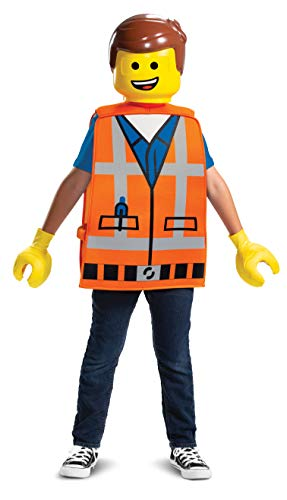 Lego Brick Halloween Costume (Disguise Emmet LEGO Movie 2 Basic Boys')