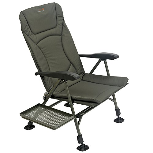 TF Gear Flat Out Carp Fishing Recliner Armchair with Side Tray - Ex Demo