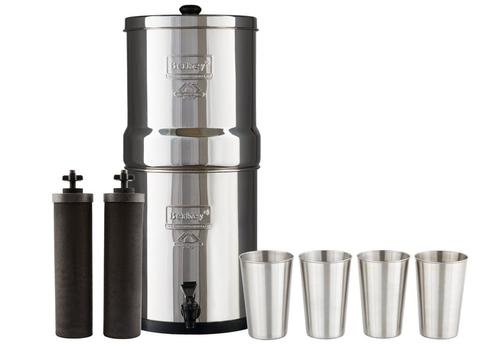 Berkey Imperial Water Filter System (4.5 Gallons) includes 2 Black Purifier Filters Bundled with 1-set of 4 Stainless Steel (Imperial Systems)