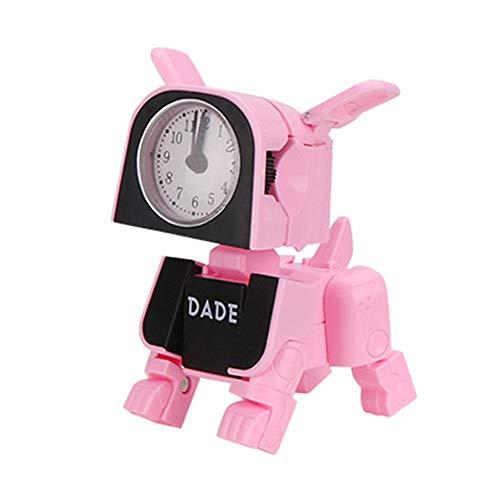 Alarm Clock Toy Dual-use Manual Deformation Machine Dog Small Alarm Clock, Creative Mini Electronic Alarm Clock Children