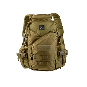 Jtech Gear Jar Head Assault Backpack, Camel Tan/Coyote Tan