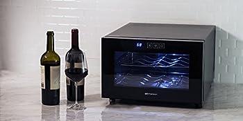 Emerson Fr948bk 8 Bottle Wine Cooler, Black 2