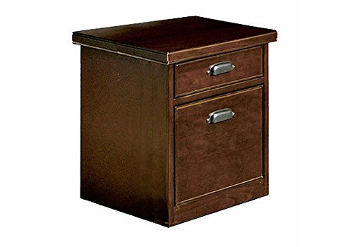Tribeca Loft Cherry Two Drawer Rolling File - 17