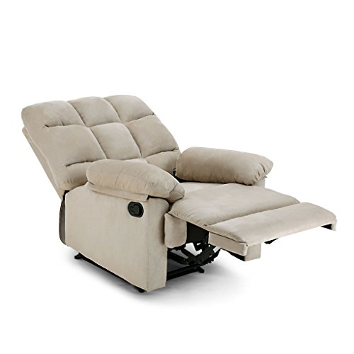 Langria Living Padded Recliner Sofa Chair For Home Or Office 2 Reclining Positions