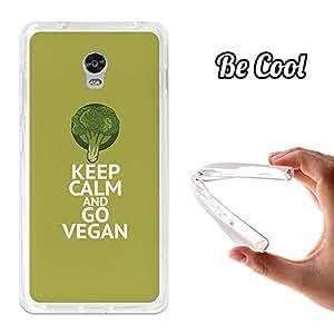 BeCool® - Funda Gel Flexible Lenovo Vibe P1 Keep Calm and Go Vegan Carcasa Case Silicona TPU Suave