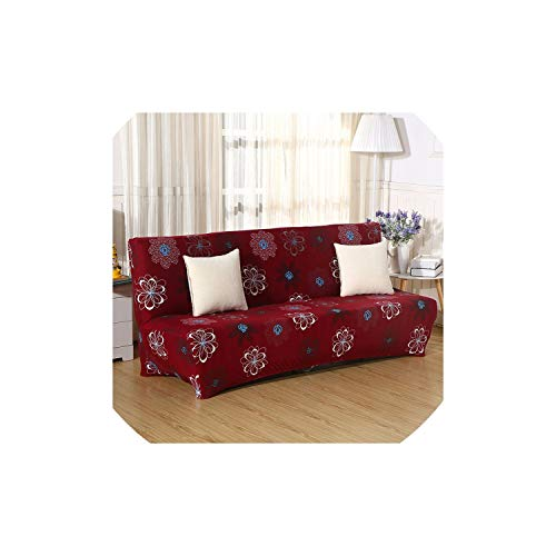 Universal Fold Armless Sofa Bed Cover Folding seat slipcover Modern Stretch Covers Couch Protector Elastic Futon ()