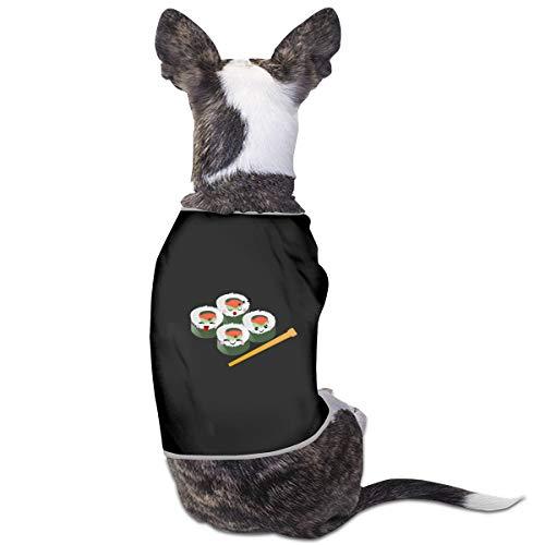 RSADGER Pet Clothing Sushi Logo Printed T Shirts Dogs Summer Vest Puppy Pet Shirt