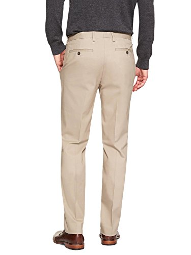 Banana Republic Men's Non Iron Slim Fit Dress Pants Khaki Beige 33W x 32L by Banana Republic (Image #1)