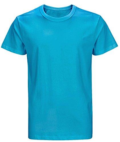 lid Cotton Thick T-Shirts (XL, Light Blue) ()