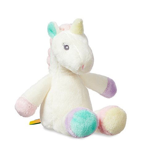 Aurora Li'l Sparkle Baby Unicorn- Baby Unicorn Rattle 8'' - Soft Plush Magic Toy Aurora 8' Fancy Pals