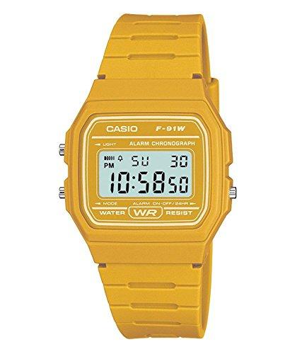CASIO BASIC DIGITAL F-91WC-9A 옐로우 카시오 베이직 디지탈 손목시계 [병행수입품]