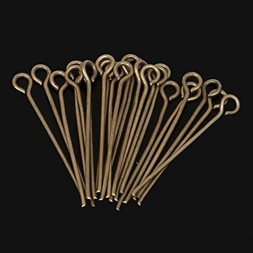 Kamas Hot- 470pcs/lot Gold/Rhodium/Antique Bronze Plated Eye Pins Jewelry Findings 24mm - (Color: Antique Bronze Plate)