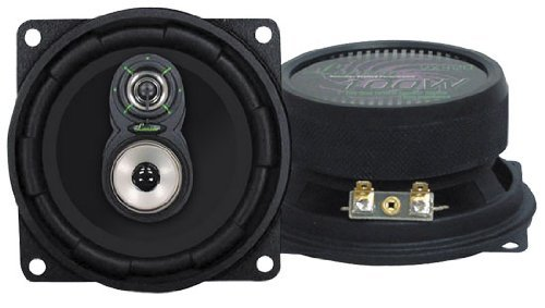 "Way Triaxial Speakers 3 (Upgraded 4"" 3-Way Speaker Pair - Powerful 150 Watt Peak 66 – 20 kHz Frequency Response 30 Oz Magnet Structure 4 Ohm w/Poly-Mica Coated Woofer Cone and 1"" High Voice Coil - Lanzar VX430)"