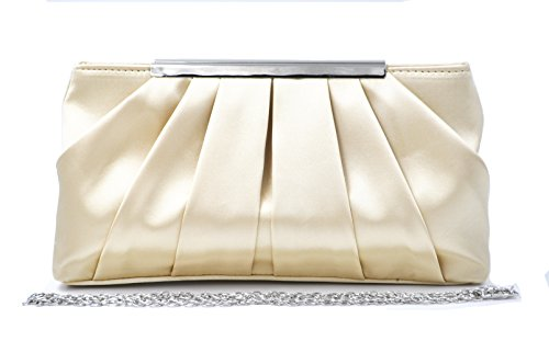 ch Crossbody Purses Party Bags Women Wedding Pleated Formal Handbag ()