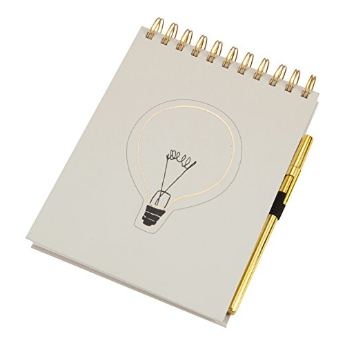 FLOOR | 9 Spiral Notepad with Gold Pen, Light Bulb