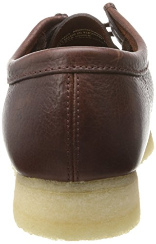 Clarks Mens Wallabee Scarpe In Pelle Marrone