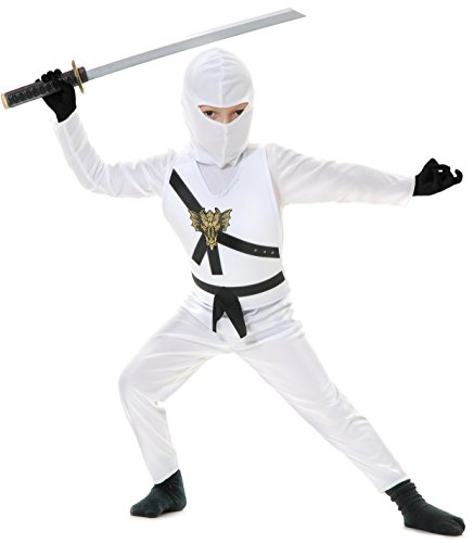 Charades Child's Ninja Avenger Costume, White, Medium -
