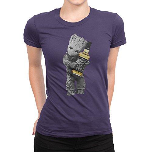 b53d3df8c Amazon.com: Women's Baby Groot Hug Jack Daniel's Tennessee Whiskey T-Shirt  (2XL, Purple): Clothing