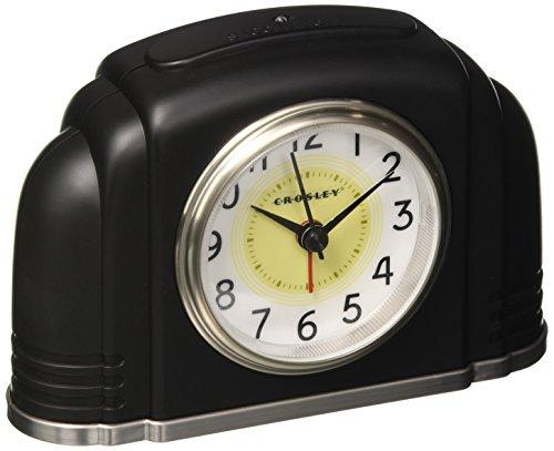 Crosley 33388 Bakelite Arch Silent Sweep Alarm Clock w/ Smartlite Technology 41qARDNXm8L