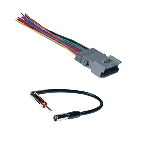 car stereo radio wire harness and antenna adapter to install an aftermarket  radio for select gm